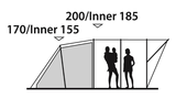Outwell Lawndale 500 | Tunneltent | 5 Persoons_